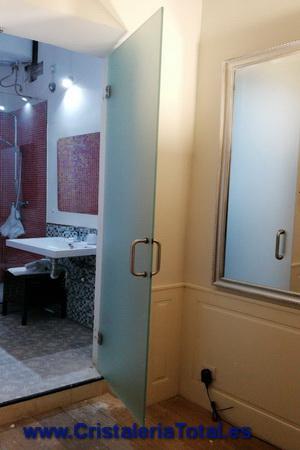 puertas de cristal baño madrid